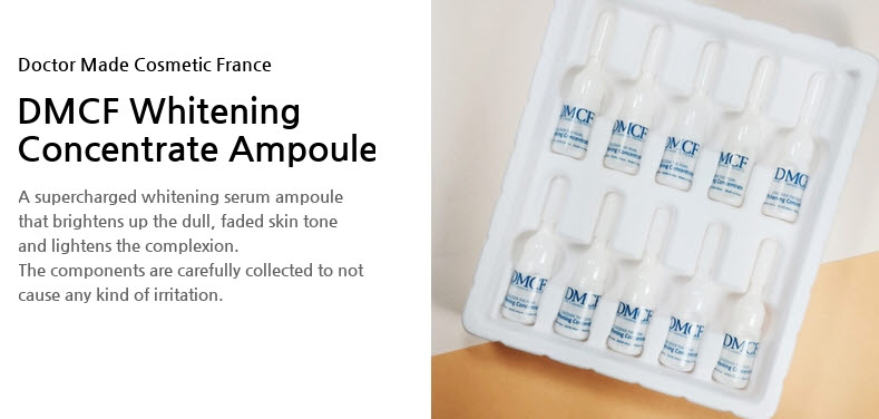 DMCF Whitening Concentrate Ampoule - brightening effect for dull skin