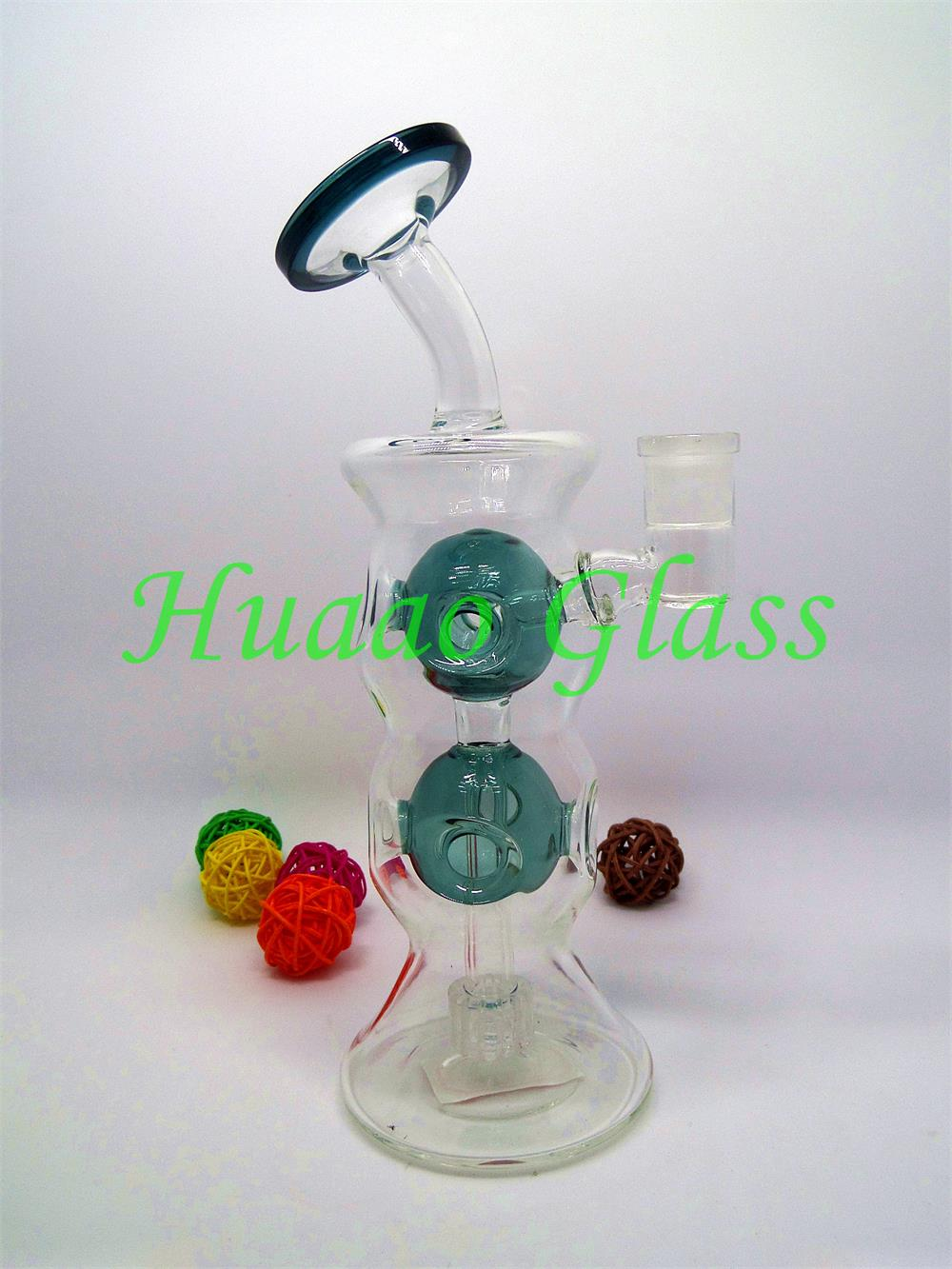 Hand blown With a hole 9 inches 5mm handmade glass water pipe Made from durable Flared mouthpiece