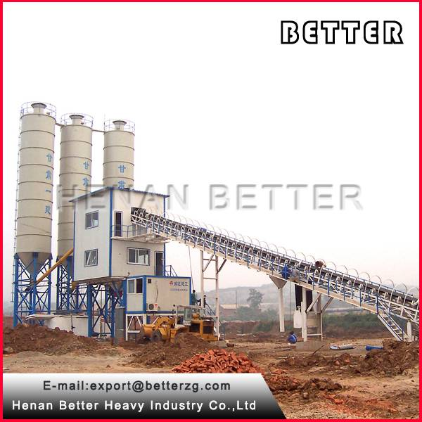 High efficiency and measuring nicety 120m3/h concrete batching plant