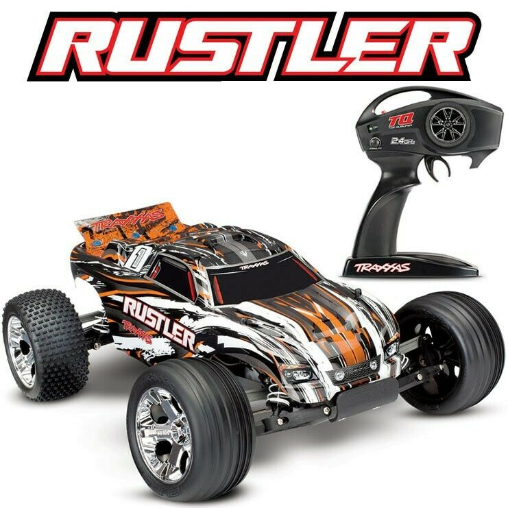 Traxxas Rustler XL-5 RTR RC Truck w/ID Battery & Quick Charger TRA37054-1