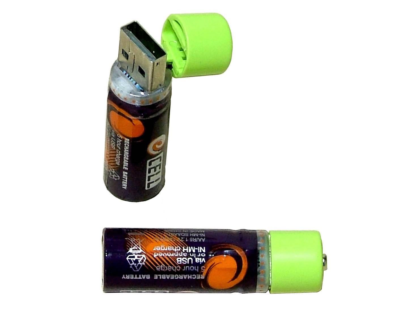 USB Heavy-duty Rechargeable Battery AA Size