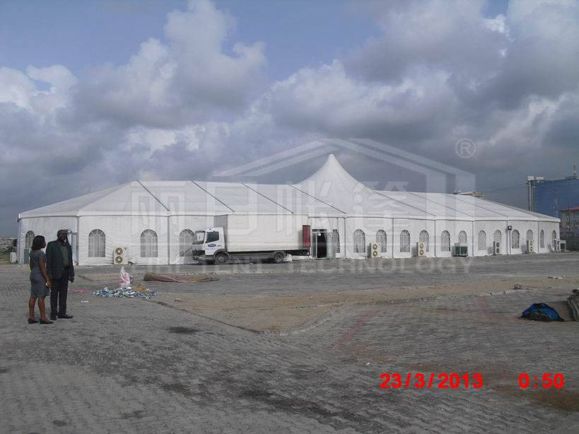 15x40m 500 peo;ple capacity outdoor high peak tent for luxury party