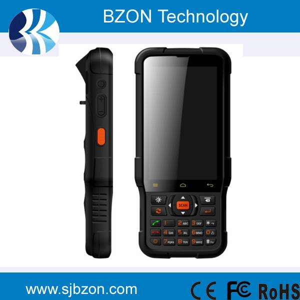 Handheld touch screen smart card reader