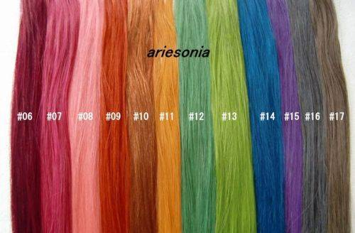 18'' Highlight 100% Human Hair Extensions Multi-Color (20 strands)