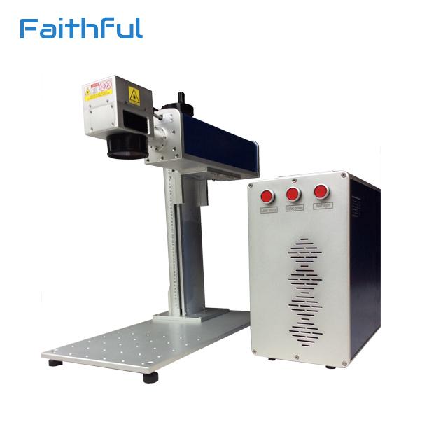 High speed fiber 20w laser marking metal plate printing machine