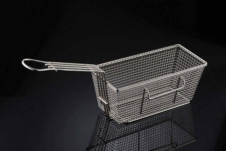 Stainless Steel Fryer Basket (with side hook)