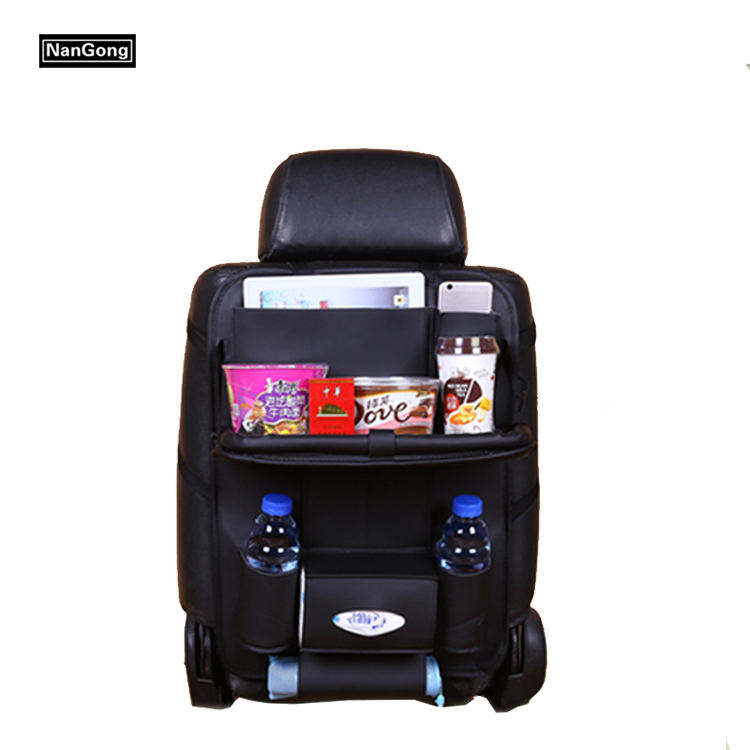 Luxury Car Back Seat Organizer with Tablet Holder - Large Touch Screen Pocket