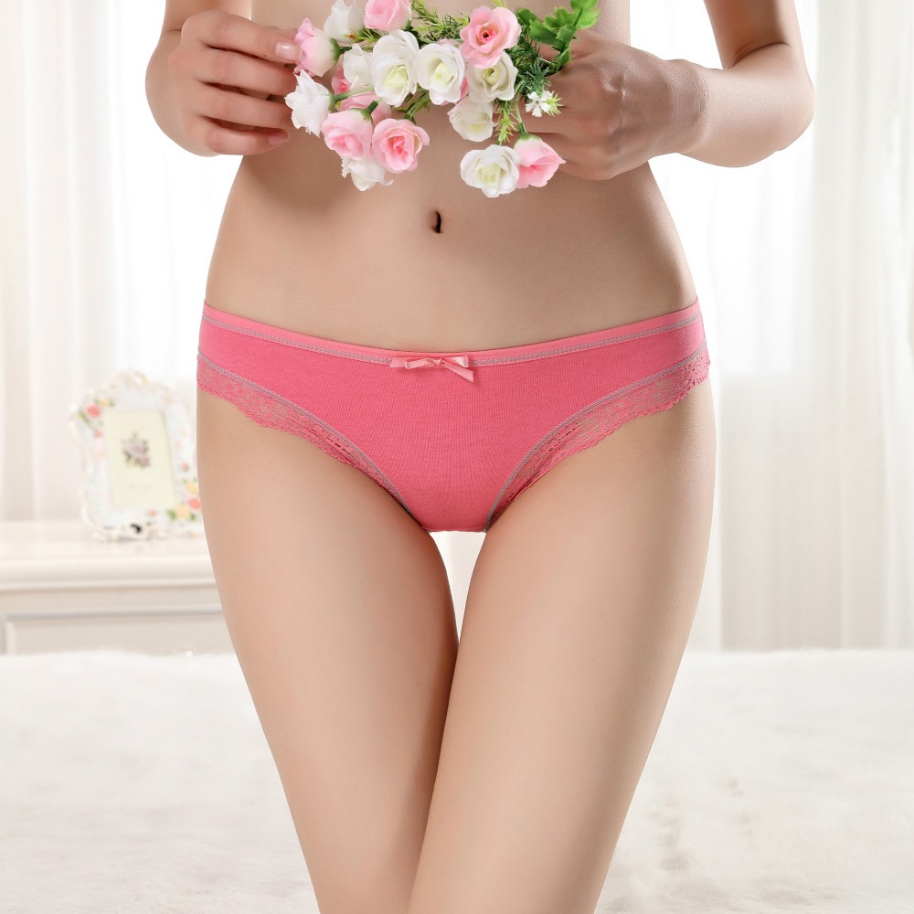 Suppliers of womens slim women panties colorful lace cotton women panty