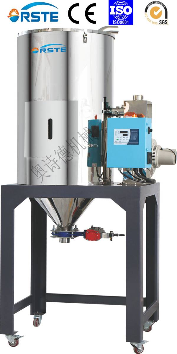 Plastic Auxiliary Equipment Drying Machine Stainless Steel Hopper Dryer