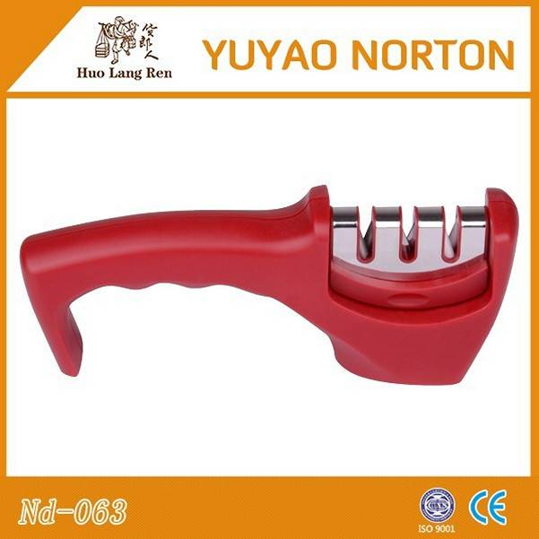 portable plastic kitchen knife sharpener with CE passed