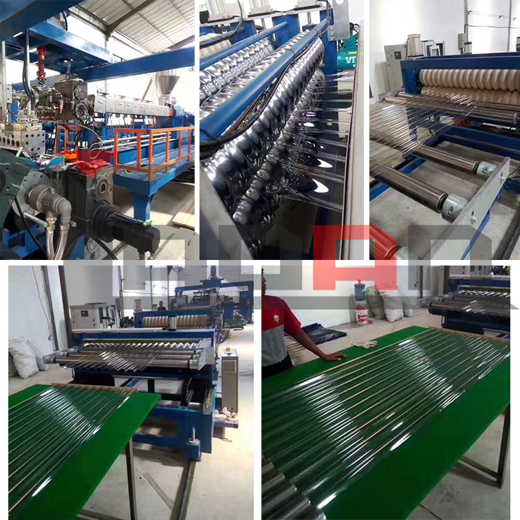 PET/PC/PP Wave Sheet Corrugated Roofing Sheet Extrusion Machine