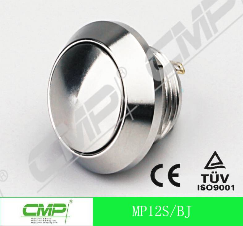12mm Waterproof Metal Push Button Switch with Momentary on Manufacture China
