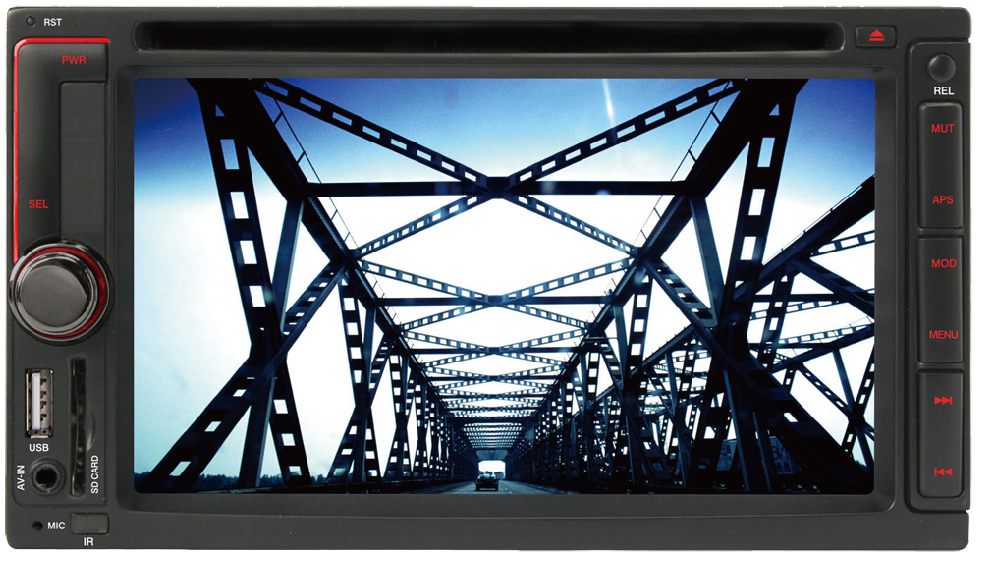 6.2-inch Toyota Universal Double Din DVD,car navigation/TV/BT/USB/SD/MP4/FM/AM