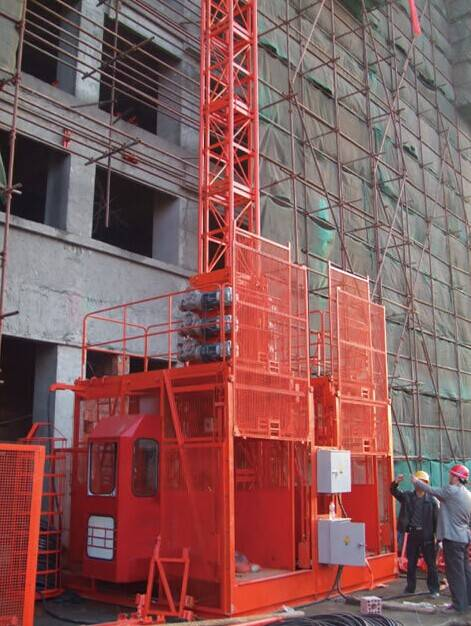 general economy double cabin construction elevator SC200