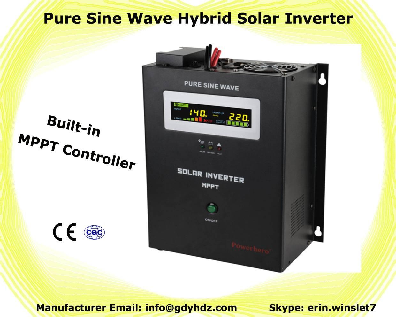 3KVA hybrid solar inverter with double CPU digital control