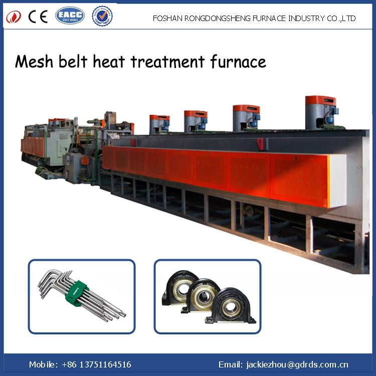 Continuous mesh conveyor belt electrical hardening and temering furnace