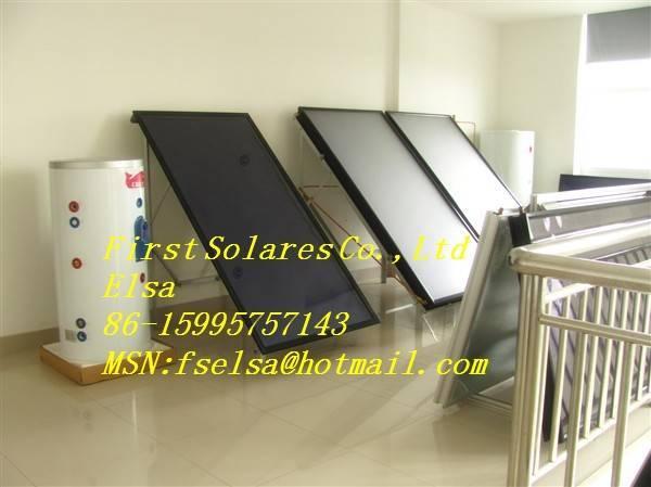 Blue titanium solar thermal collector
