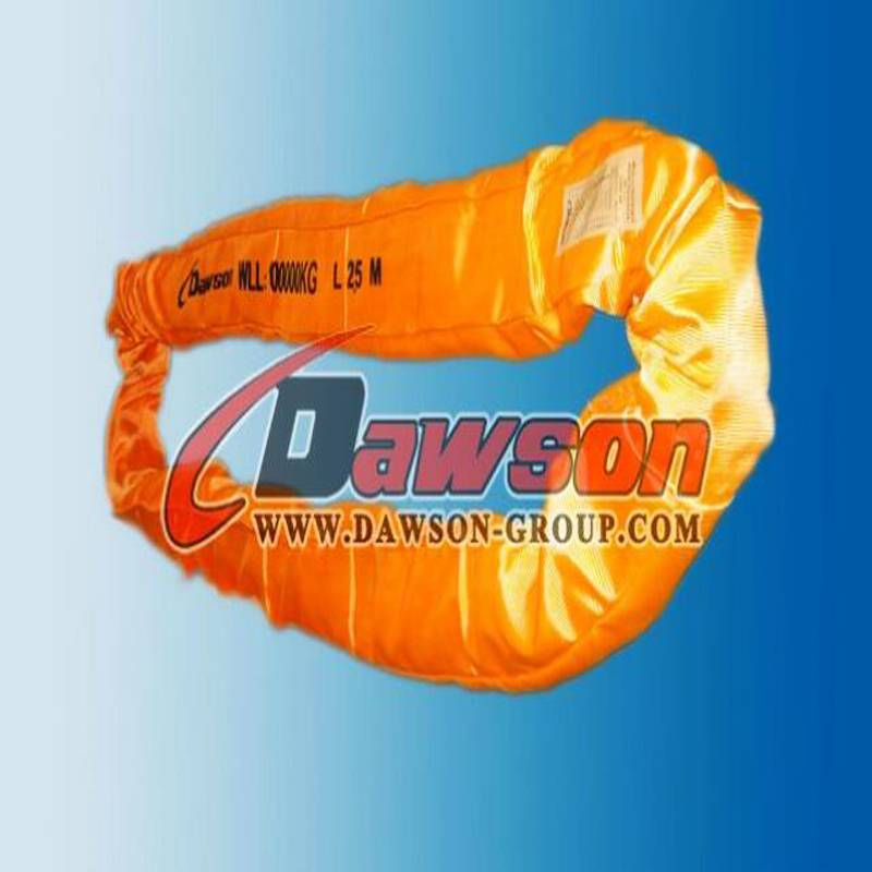 EN1492-2 100t heavy duty polyester endless round lifting sling