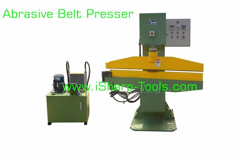 Abrasive belt press machine