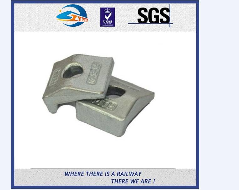 ZhongYue Weldable Base Railway Clips Cap With Integral Rubber Block And Upper Clip In Railroad