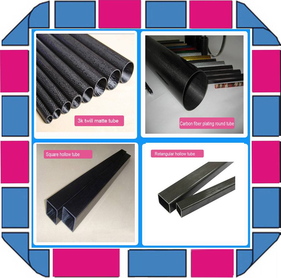 roll wrapped 3K twill/plain pattern carbon fiber tube 25mm 30mm 22mm 20mm 18mm 16mm 14mm 12mm
