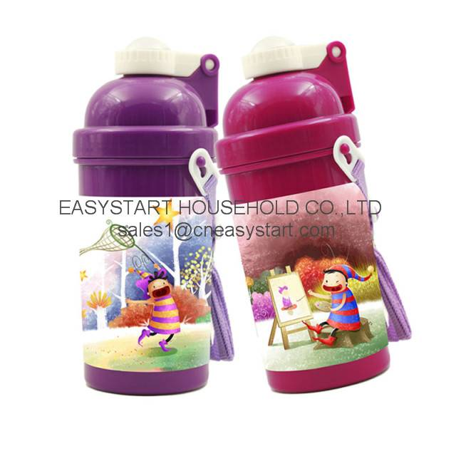 Children plastic water bottles