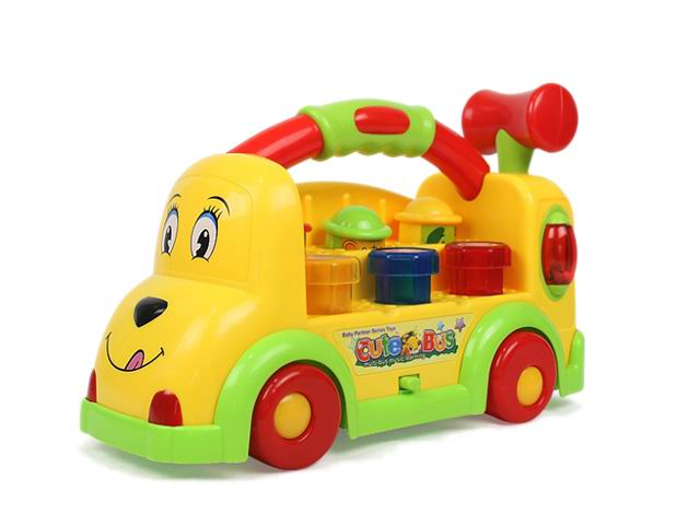 Learning toys knocking toys bus with music