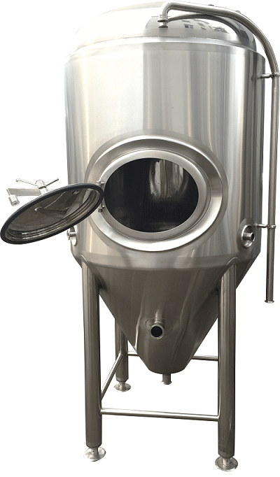 500 litres beer fermentation tank with side manway or top manway