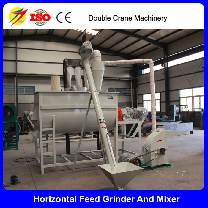 Cattle feed making machine and mixer for animal feed farm