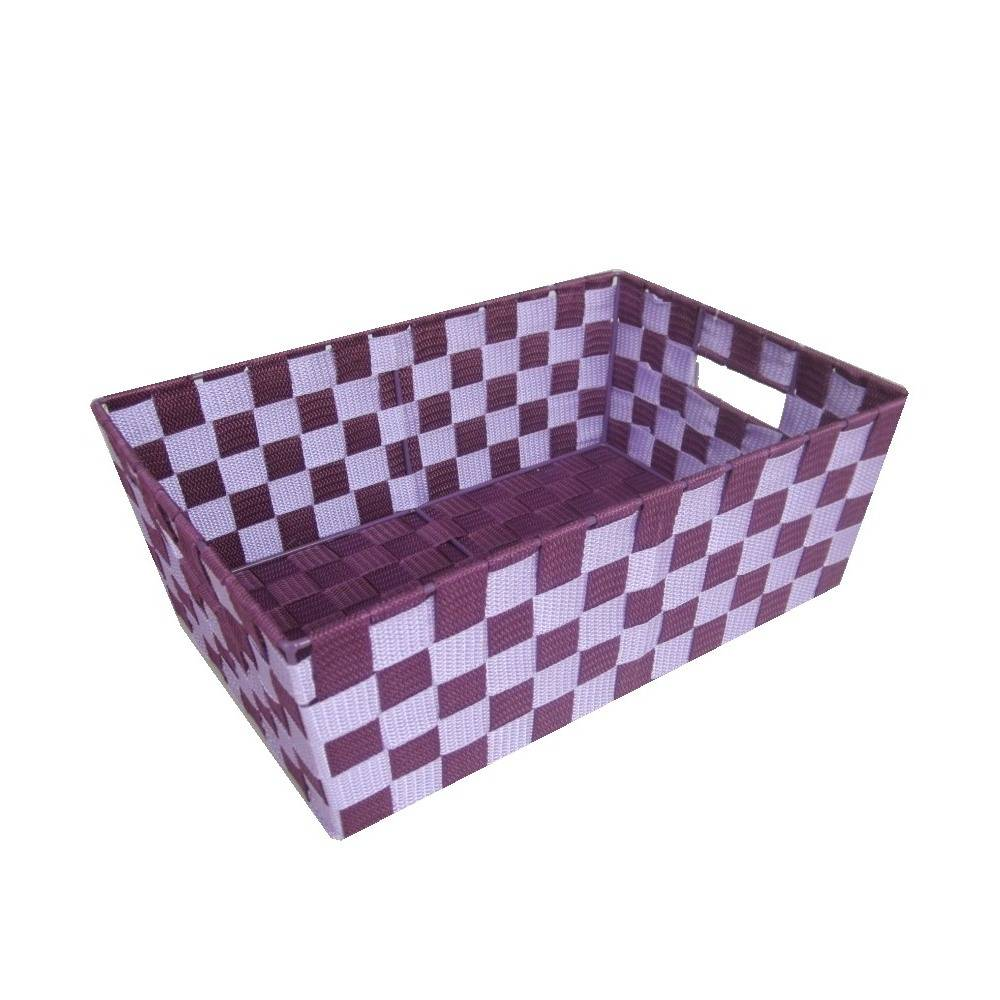 Polypropylene reinforced skeleton storage basket
