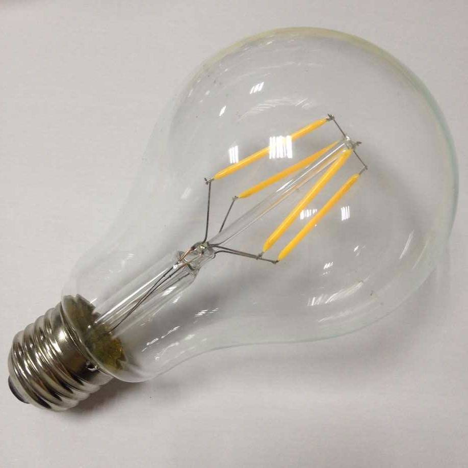 big clear glass Edison lamp A23 led filament bulb