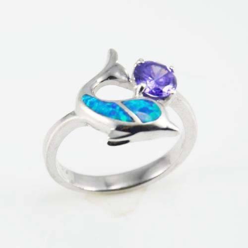 Guangzhou fashion silver jewelry opal ring