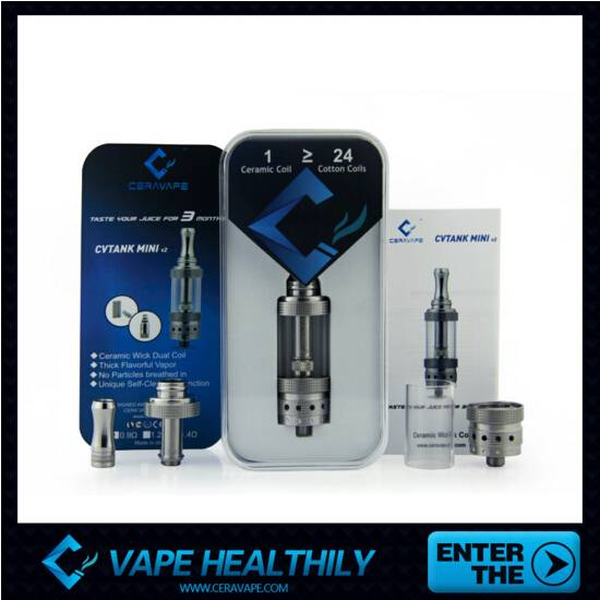 Newest products CVtank Mini V2  better design and taste with ceramic wick coil from ceravape