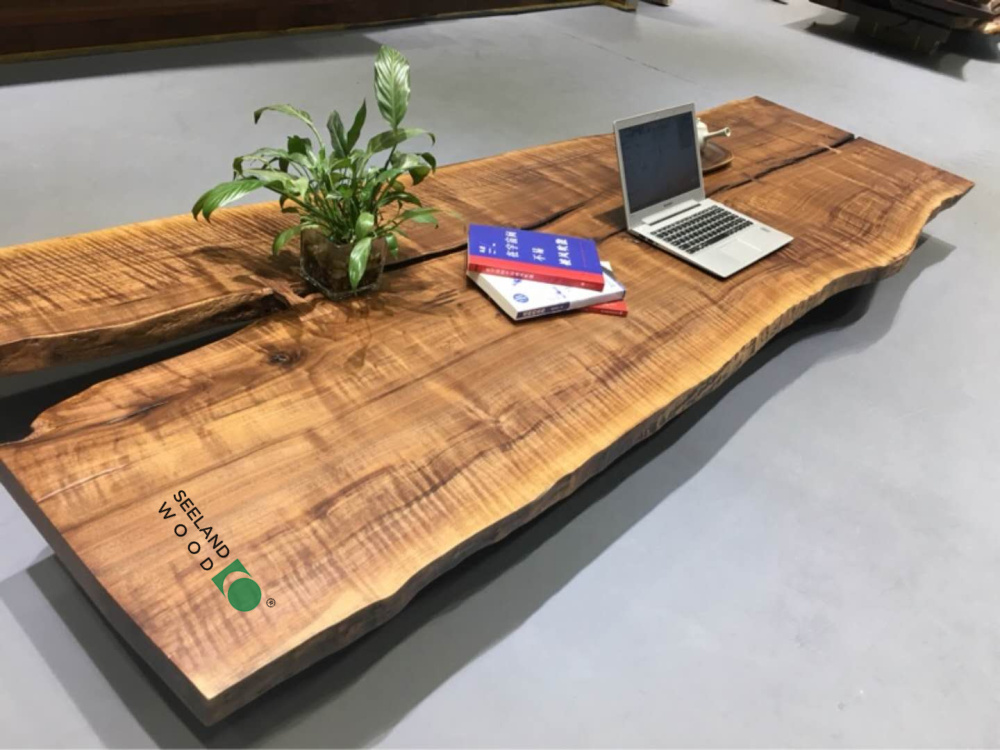 American black walnut Table top with oil-one slab