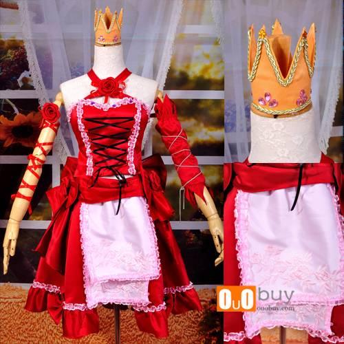 Anime Cosplay Costume Hatsune Miku Red Dress Cosplay Custume