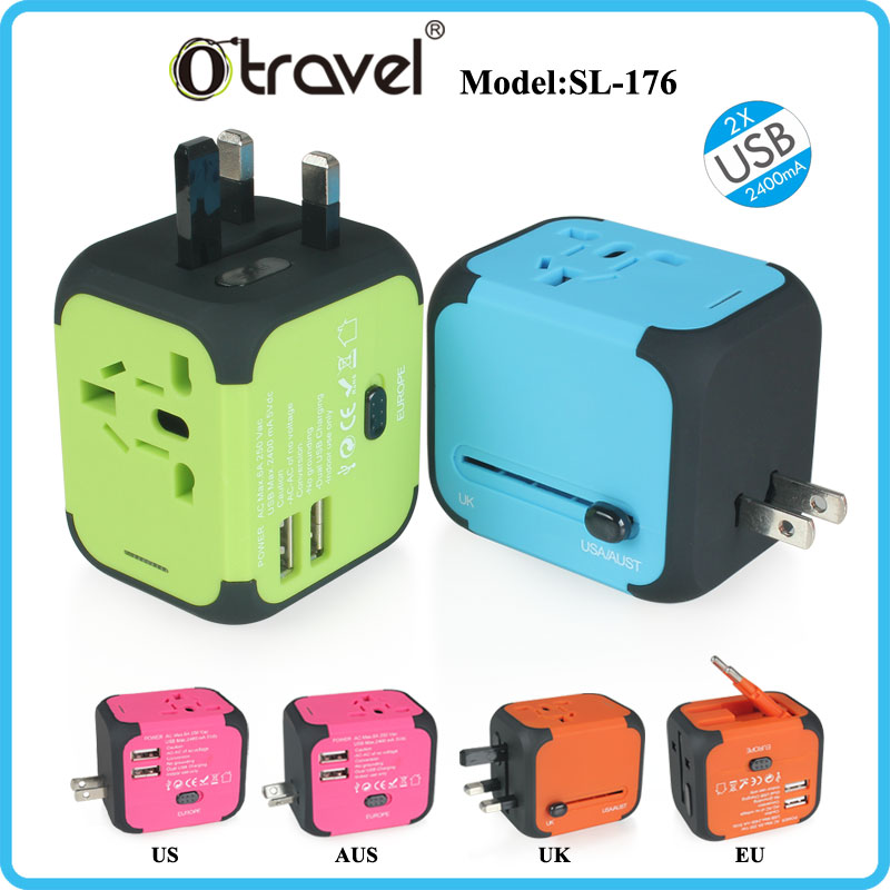 Otravel SL-176 universal travel adapter with 2 UBS output 5V 2.4A
