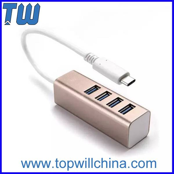 USB-C USB 3.1 Type-C to 4 ports USB 3.0 Slim Design High Speed USB 3.0 Hub Usb Type-C Hub