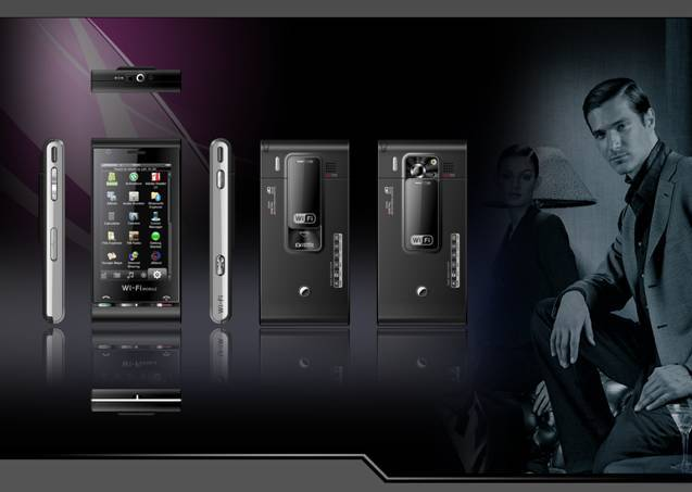 Ultra thin business intelligent with WIFI TV phone
