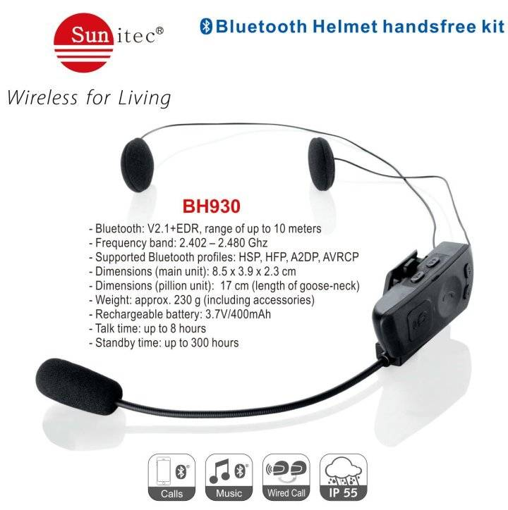 Bluetooth Handsfree motorcycle helmet kit BH930