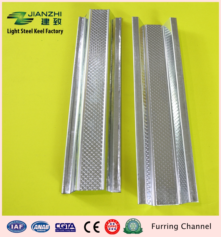 Guangdong leading factory wholesale 32/22/68mm galvanized steel ceiling furring channel
