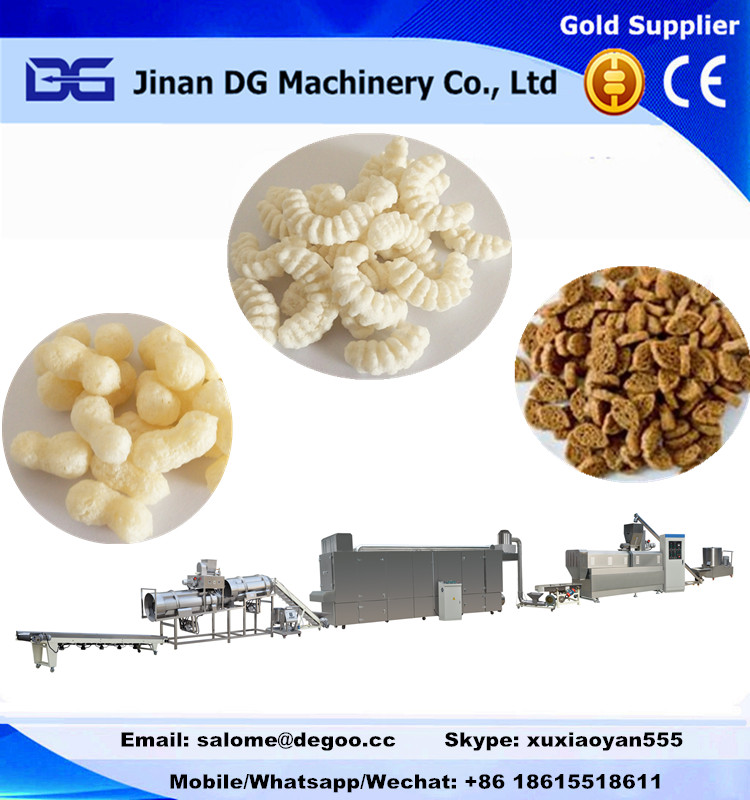 Extruded corn puff cheese ball/corn sticks making machine production line