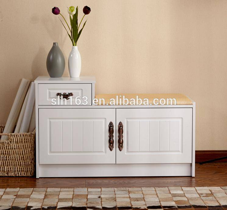 Wooden shoe rack/ shoe cabinet style chinese manufacturer