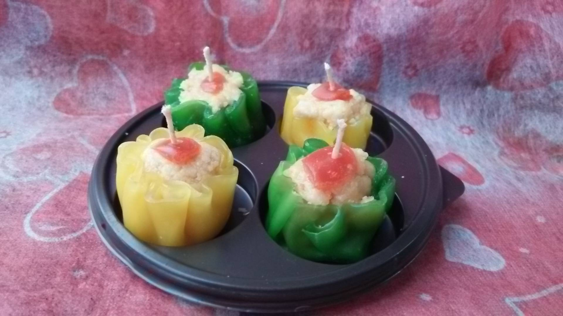 Shumai scented candles 4 pcs for set