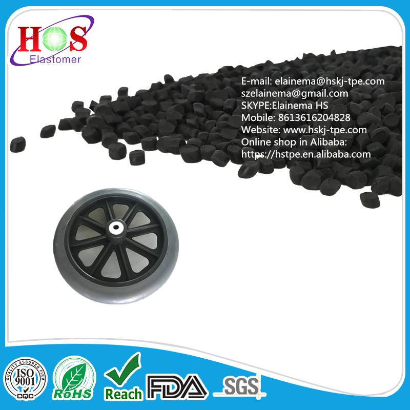 Injection Molding Pellet for Castor The TPE compound, material, granules