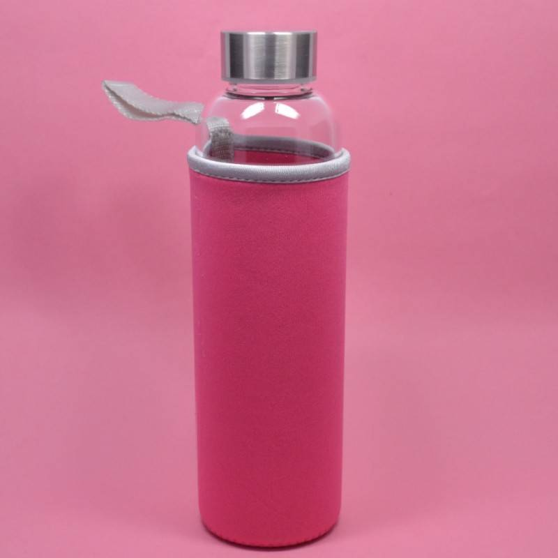 280ML 360ML 550ML High Borosilicate Glass Water Bottles with sleeve