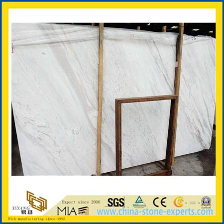 Volakas White Marble Slabs for Bathroom Decoration