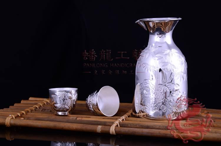 Silver Wine Hot Pot-silver wine bottles