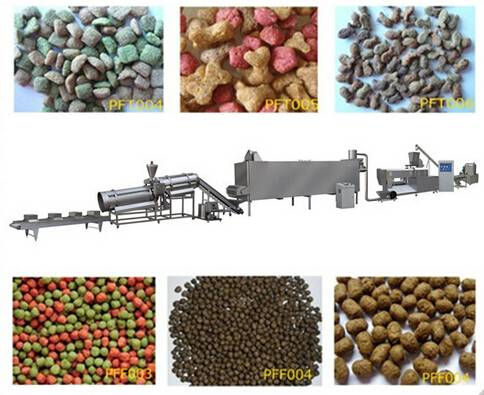 Floating fish feed extruder / pet feed extrusion machine