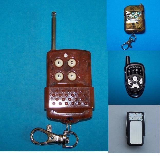 wireless IR remote controls for alarm system