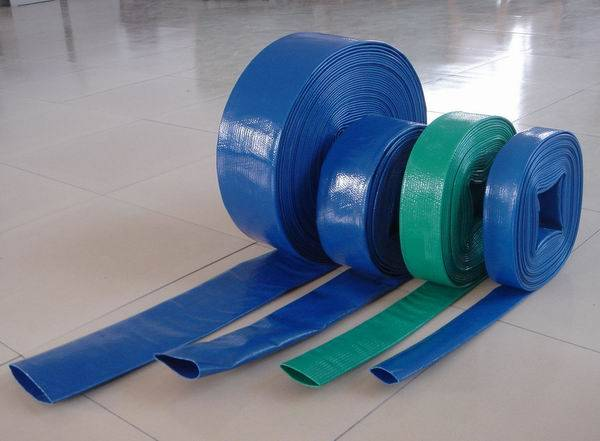 BLUE PVC LAYFLAT HOSE - WATER DISCHARGE PUMP / IRRIGATION / ALL SIZES & LENGTHS